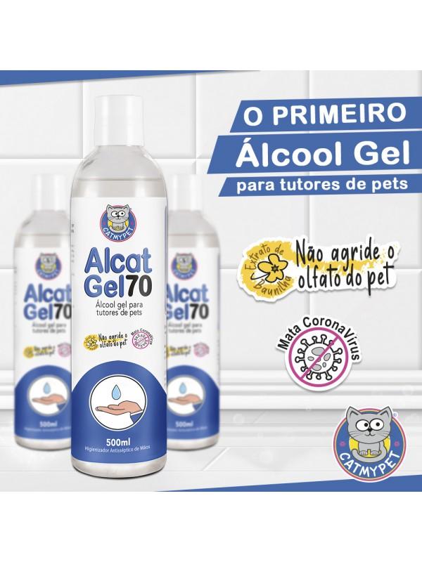 Alcat Gel 70 - Álcool Gel para tutores de Pets 500ml
