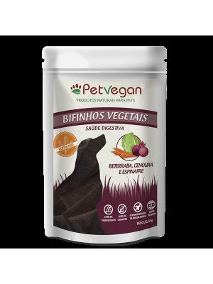 Bifinho PetVegan Vegetais - Cenoura, Beterraba e Espinafre, GLÚTEN FREE