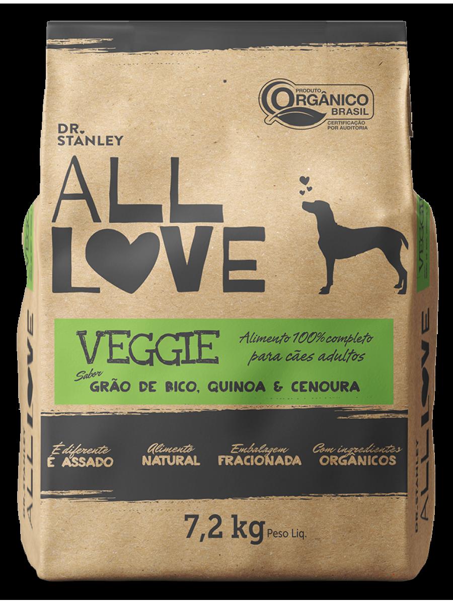 ALL LOVE Veggie / 7.2kg - Ração ORGÂNICA