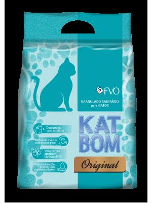 KATBOM Tradicional - Granulado Sanitário Biodegradável - 6 pacotes