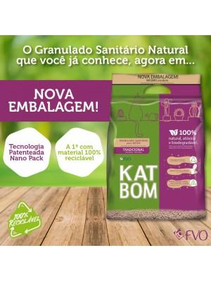 KATBOM Natural - Granulado Sanitário Biodegradável - 6 pacotes