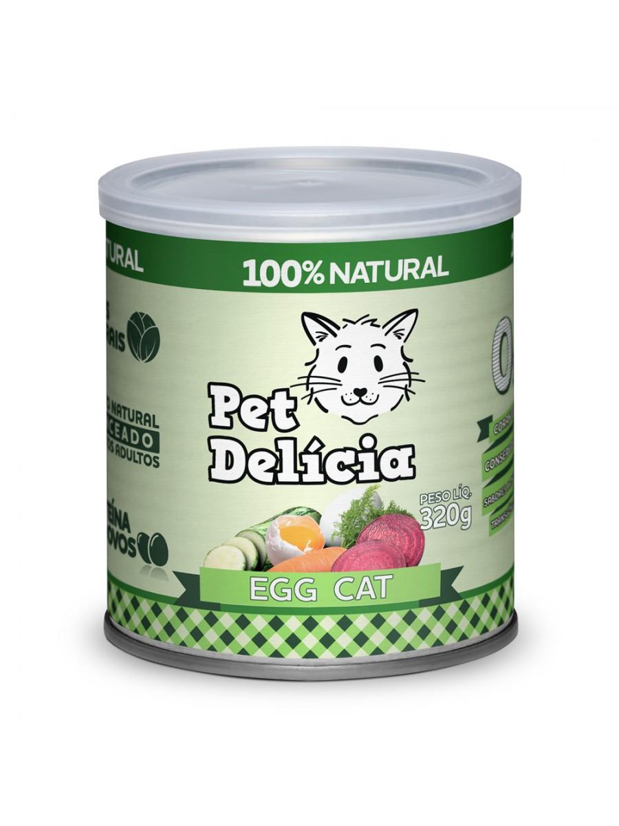 Ração Úmida Pet Delícia Natural Egg Cat